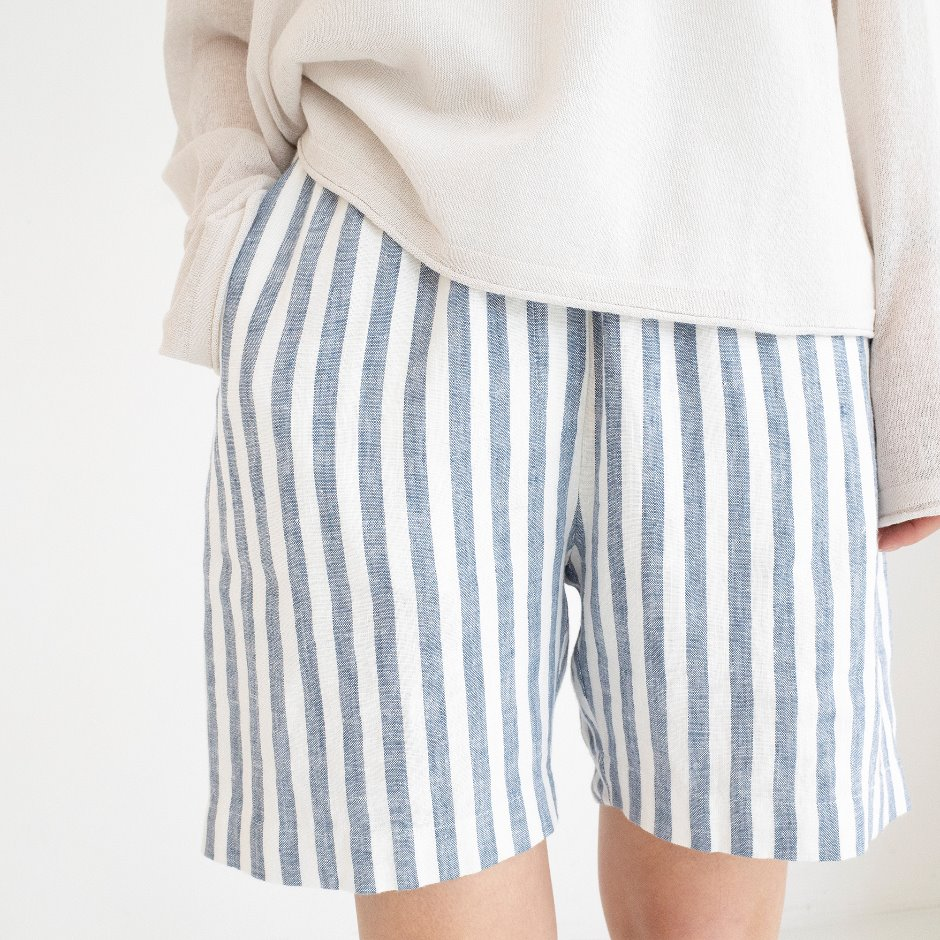 Molly stripe half pants