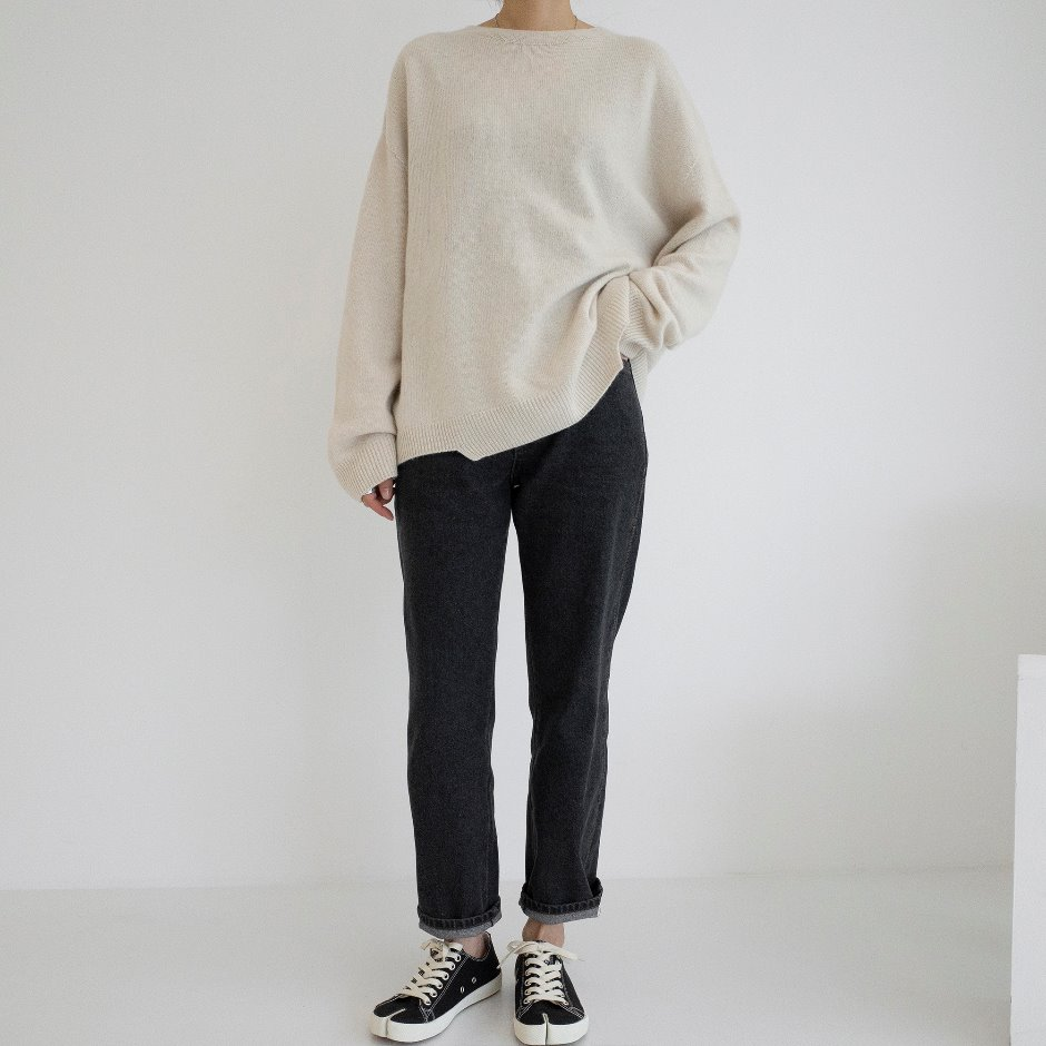 Unbal line pullover