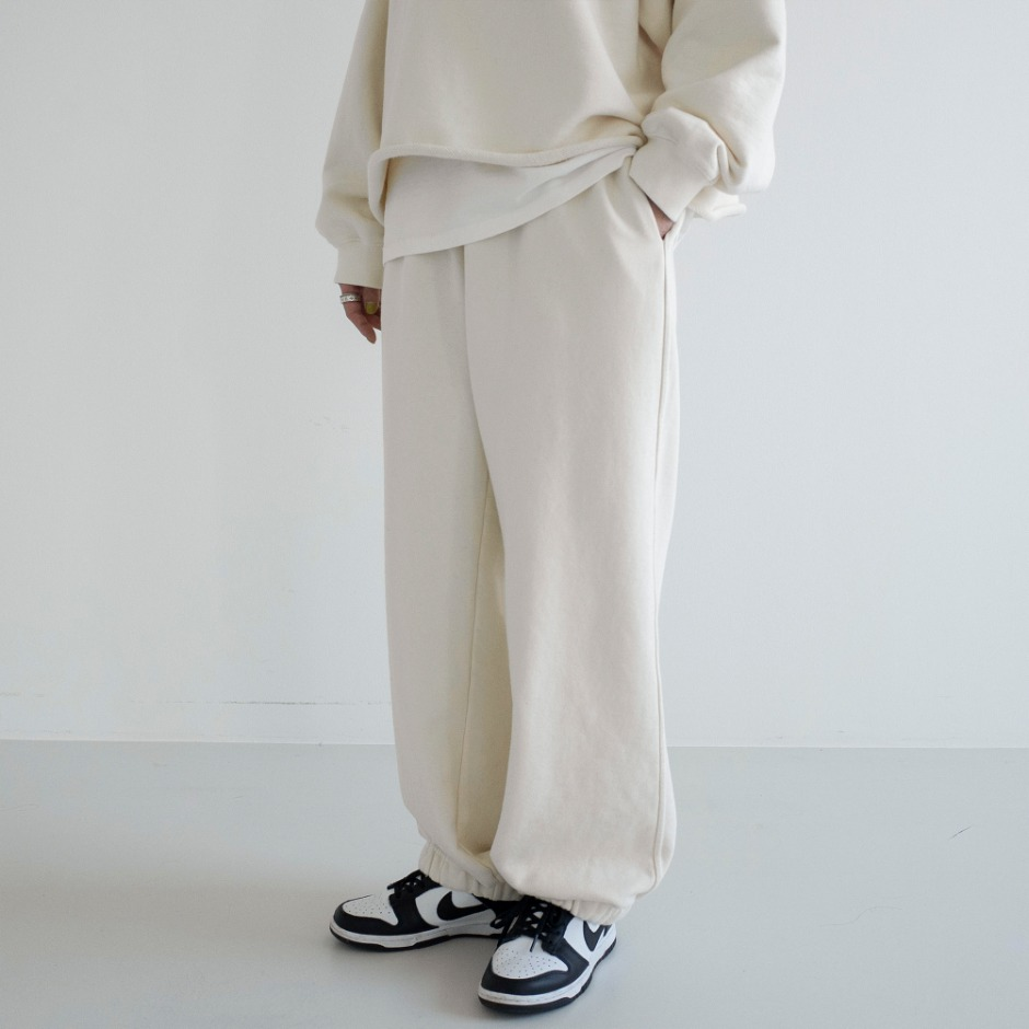 Wide sweat pant