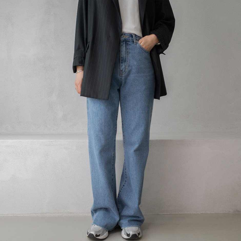 River denim wide pants