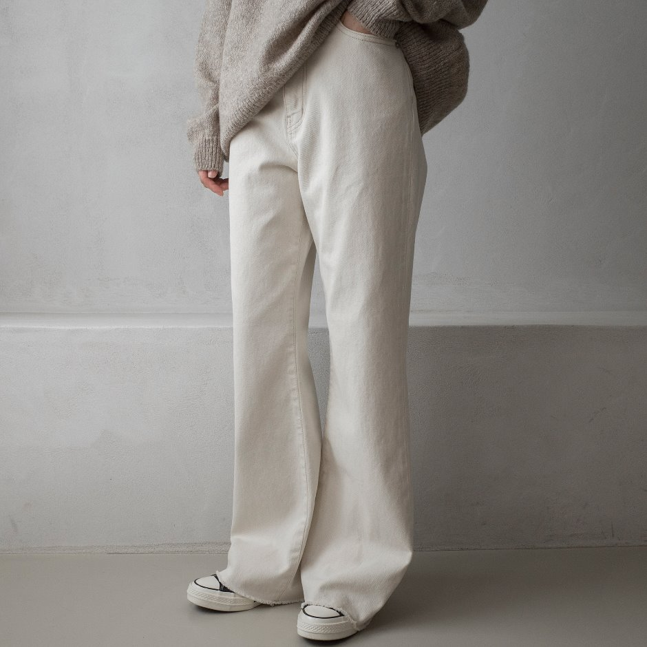 River natural wide pants