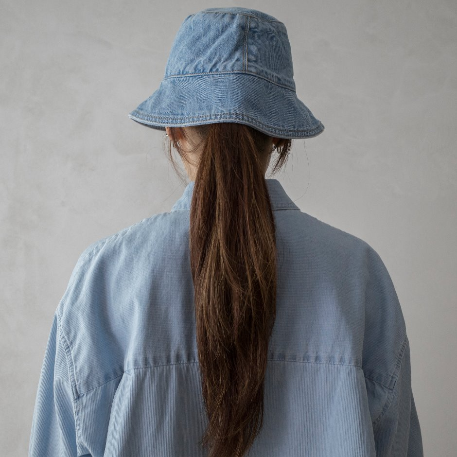 River denim bucket hat