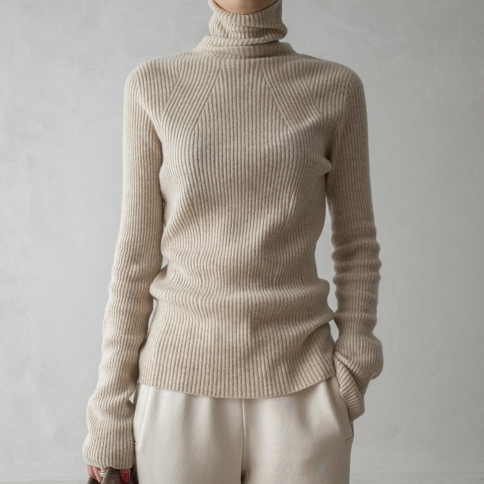 New basic rib turtleneck