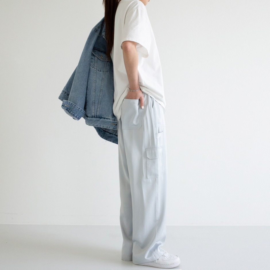 Satin fatigue pant